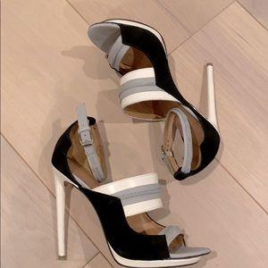 L.A.M.B. Colour block heeled sandals
